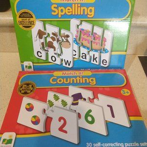 Match It! Spelling & Counting Puzzle Game LOT NEW